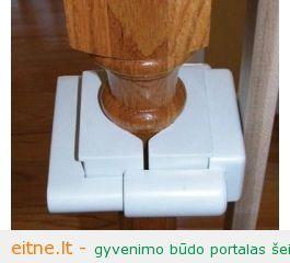 Vartelių įtaisymas prie kolonos be jokio gręžimo