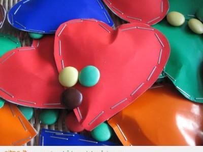 Idėja vaikų gimtadieniui: saldainių širdelės