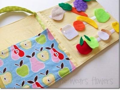 Gaminame žaislus: pirkinių sąrašas ir krepšys