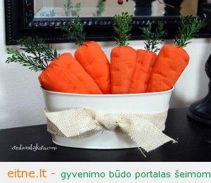 Idėja namams: medžiaginės morkos