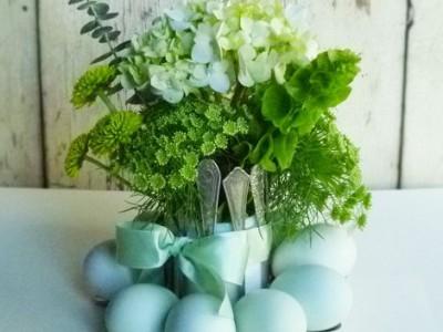 Idėja namams: stovelis kiaušiniams iš vintage stiliaus šaukštų