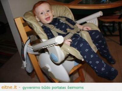 Maitinimo kėdutė: puikus pagalbininkas mažyliui susirgus