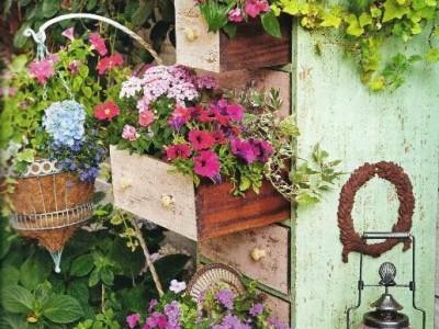 Idėja namams: gėlės komodoje