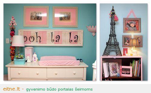 Paryžius kūdikio kambaryje