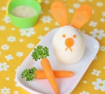 Velykinis zuikutis – iš kiaušinio ir morkų