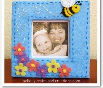 Idėja Motinos dienai: veltinio rėmeliai