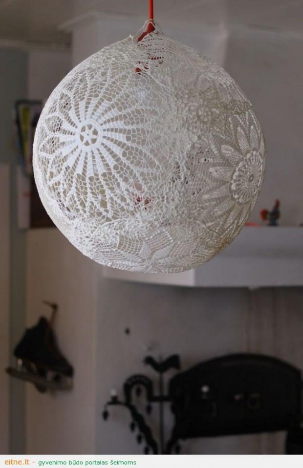 Idėja namams: nėrinių šviestuvas