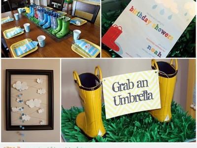 Idėja vaikų gimtadieniui: Griebk skėtį!