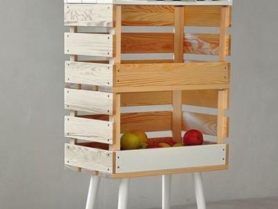 Idėja namams: savadarbė lentyna iš paprastų dėžių