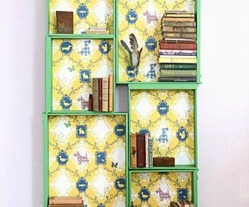 Idėja namams: knygų lentyna iš komodos stalčių