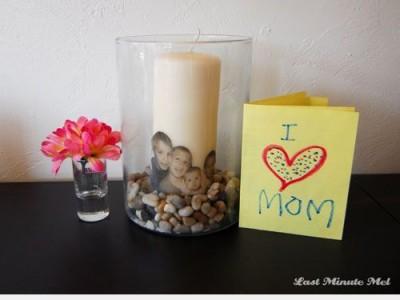 Dovanos idėja:žvakė su fotonuotrauka