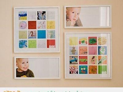 Idėja namams: vaikų darbelių eksponavimas namie