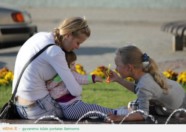 Vaikų šypsenomis žydintis burbuliatorius Gargžduose