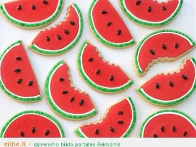 Puošni maisto idėja: arbūzai