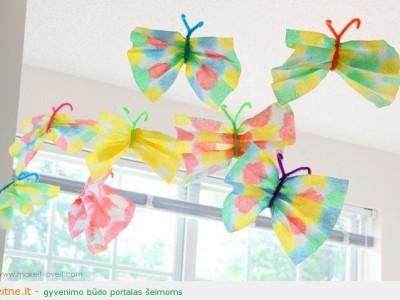 Darbeliai su vaikais: drugiai iš popierinių rankšluosčių