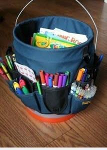Idėja vaikų kambariui: kaip sutvarkyti spalvinimo reikmenis