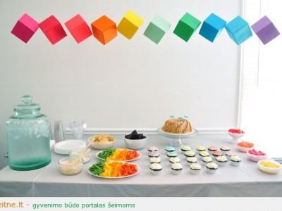 Idėja gimtadienio vakarėliui: vaivorykštė