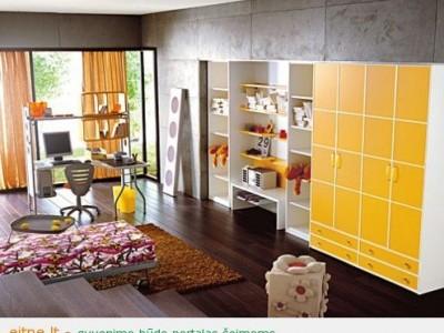 Gaivios spalvos vaikų kambariuose