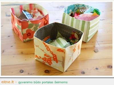 Idėja namams: tekstilinės dėžės smulkmenoms