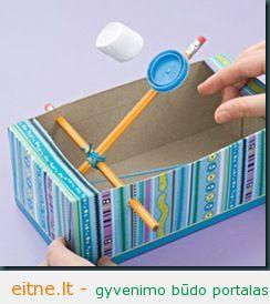 Gaminame žaislus: zefyrų katapulta