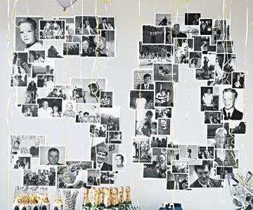 Idėja gimtadieniui: fotografijų dekoras