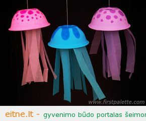 Darbeliai su vaikais: medūzos