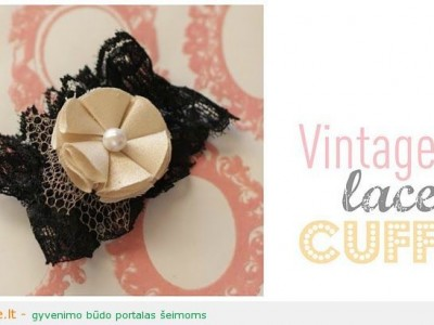 Rankdarbio idėja: vintage stiliaus apyrankė