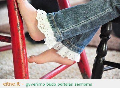 Rankdarbio idėja: kaip greitai pailginti dukros džinsus
