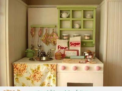 Keletas idėjų, kaip sukurti vaikams žaidimų virtuvę