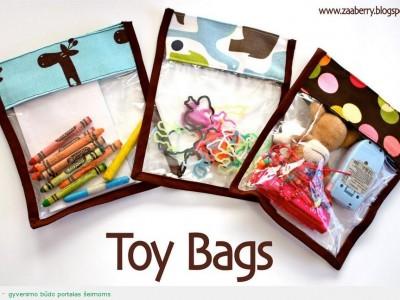 Rankdarbio idėja: maišeliai žaislams
