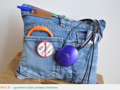 Rankdarbio idėja: naudinga pagalvėlė iš senų džinsų