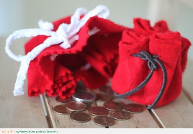 Rankdarbio idėja: kapšelis monetoms