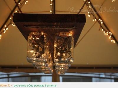 Idėja namams: šviestuvas iš stiklainių