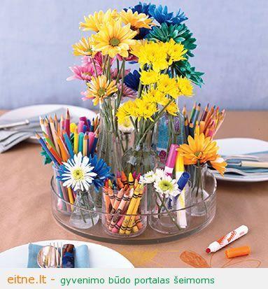 Idėja vaikų gimtadieniams: meninė puokštė