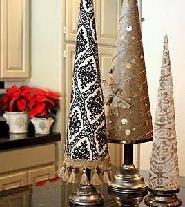 Idėja Kalėdoms: medžiaga aptrauktos eglutės