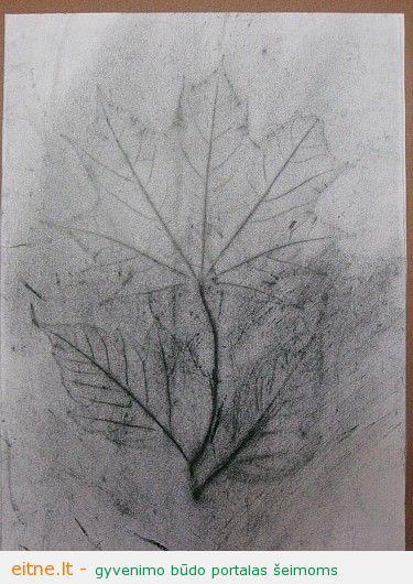 Piešimo technikos: piešimas juoda kalke
