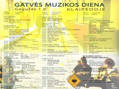 Kviečiame į Gatvės muzikos dieną Klaipėdoje