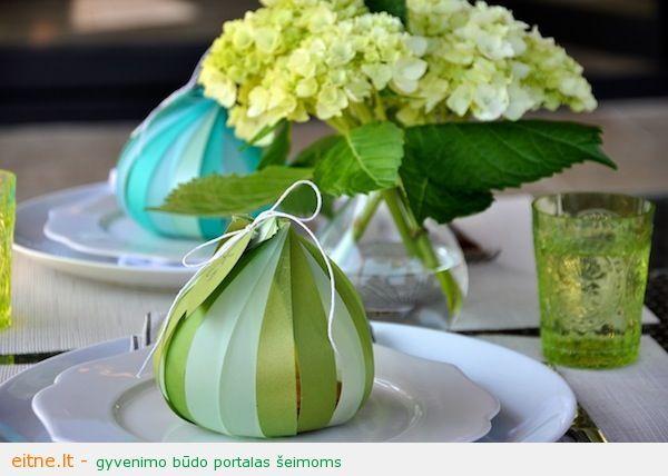 Idėja stalo serviruotei: moliūgėlis-pakuotė