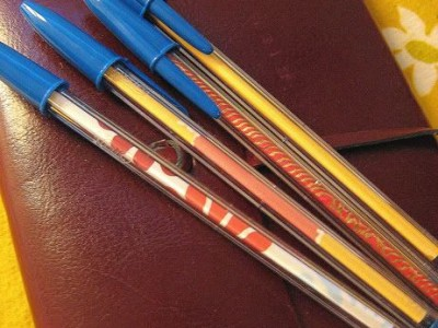 Idėja namams:  spalvoti rašikliai