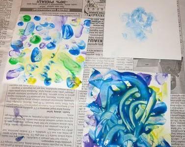 Piešimo technikos: tapymas pirštais ir delnais
