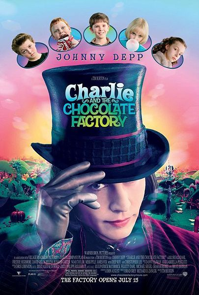 Filmas: Čarlis ir šokolado fabrikas (Charlie and the Chocolate Factory)
