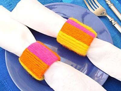 Idėja  namams: servetėlių žiedai iš antrinių žaliavų
