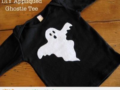 Idėja kostiumui: marškinėliai su vaiduokliuku