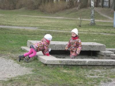 Žaidimai su vaikais lauke