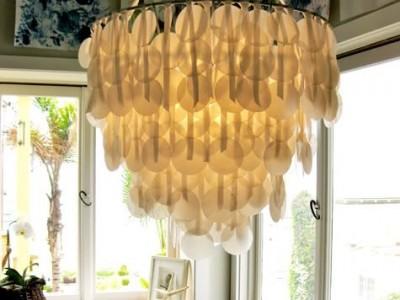 Idėja namams: vaškinio popieriaus šviestuvas