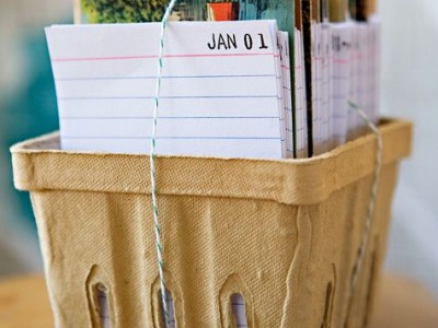 Dovanos idėja: kalendorius  su vintage stiliaus atvirukais