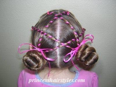 Mažųjų princesių šukuosenos