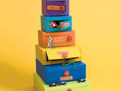 Idėja namams: komoda iš dėžučių