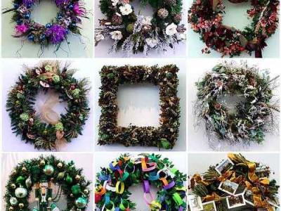 Idėja namams: dekoracijos – kalėdiniai vainikai