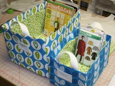 Idėjos namams: siūtos dėžės žurnalams